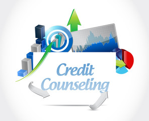 credit counseling business graphs sign