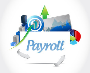 payroll business graphs illustration