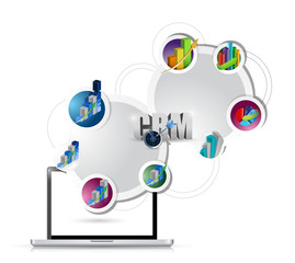 laptop business crm network