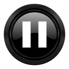 pause black icon
