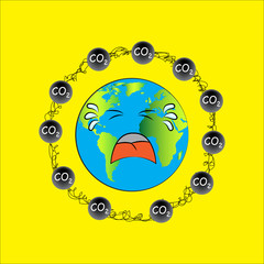 Carbon dioxide. Vector eps10.