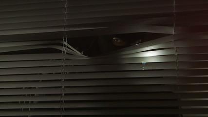 Crime scene investigation at night