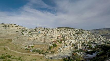 Jerusalem mountain of olives time lapse