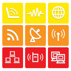 Internet icons set great for any use. Vector EPS10.