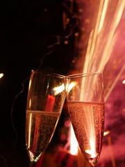 champagne glass firework