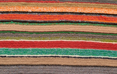 knitted fabric with stripes  background