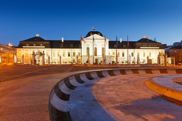 Presidential palace in Bratislava, Slovakia.