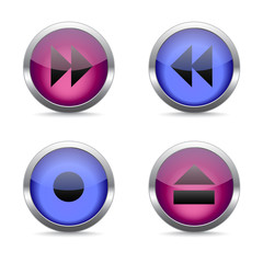 Media icons set great for any use, Vector EPS10.