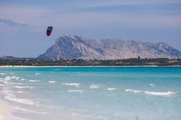 Panorama of beautiful beach in Sardinia, Italy