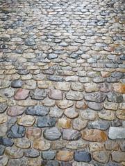 cobblestone wet