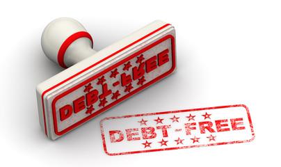 Без долгов (Debt free). Печать и оттиск