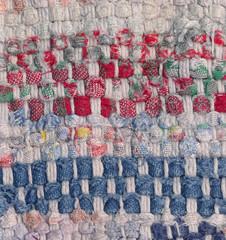 Old used woven rag rug