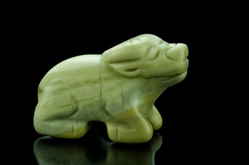 Butter jade carved ox
