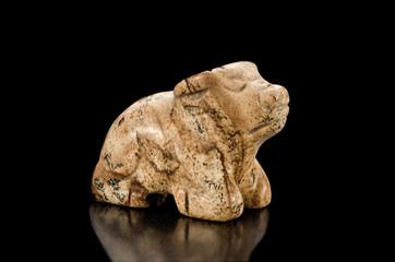 Picture jasper carved ox