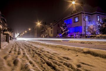 Verschneite Strasse