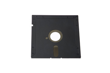 """old data storage system: single floppy disk 5 """"1/4"""