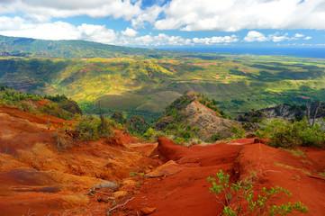 Stunning view into Waimea Canyon, Kauai