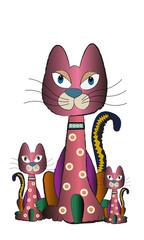 Familia de gatos.