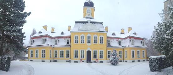 Winterliches Gohliser Schlösschen, Leipzig