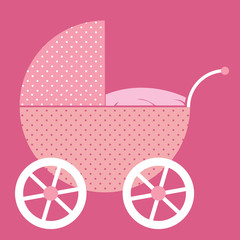 Pink Baby Buggy