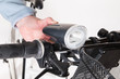 Front bicycle lamp on the steering whee - 75386775