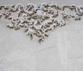 Baroque ornament detail wall decoration 2