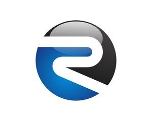 r letter logo template v.2