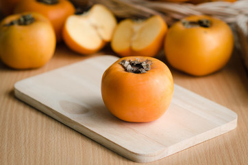 Close up of persimmon