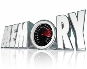 Memory 3d Word Speedometer Improving Recall Mental Health