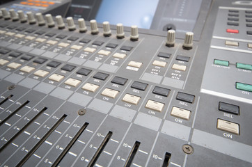Professional studio mixing console
