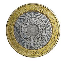 British two pound coin