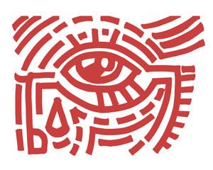 Eye tribal