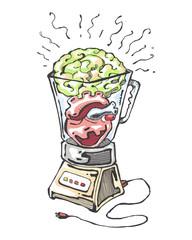 Heart and brain shake
