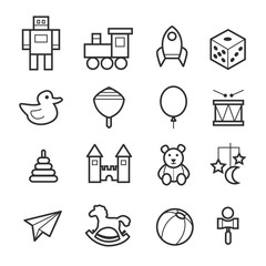 Toys icon collection