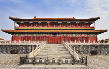 China Forbidden city Temple front fence