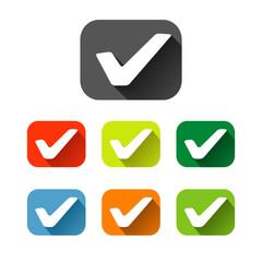 check mark sign icon checkbox set