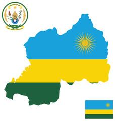 Republic of Rwanda flag