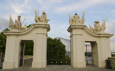 Gate at Bratislava Castle - capital city of Slovakia