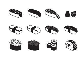 Sushi  Black & White