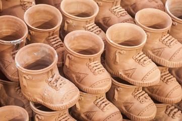 Set of shoes as mementos at a shop