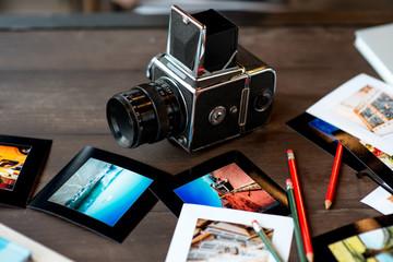 Old full frame film camera