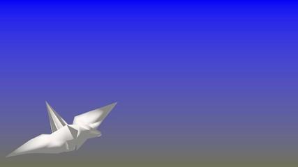折り紙の鶴の網メーション