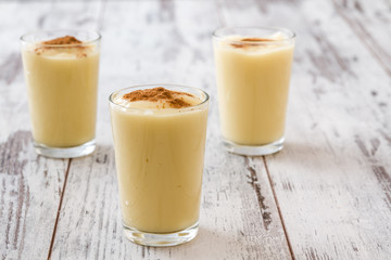 Boza or Bosa, traditional Turkish dessert