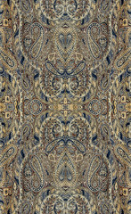 .a repeating pattern on the fabric, rapport