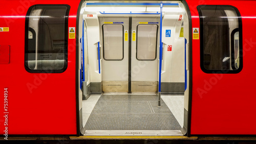 Inside view of London Underground, Tube Station - 75394934