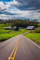 Farm along a country road in rural York County, Pennsylvania.
