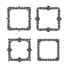 Vector decorative frames set