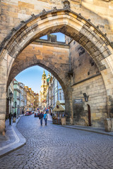 Pathway from Charles bridge, Prague