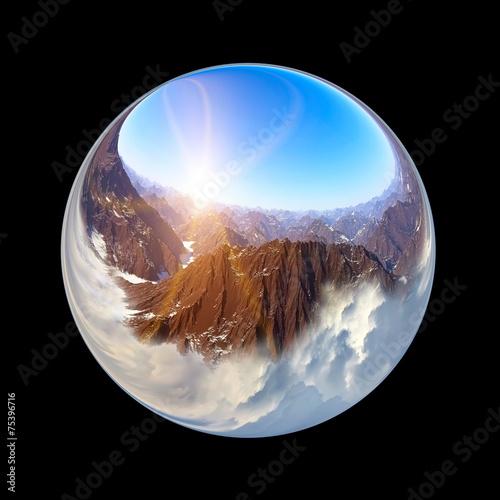 Fantastic colorful ball - 75396716