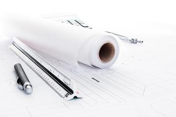Maßstab Kugelschreiber Skizzenrolle